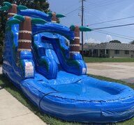 16 Ft. Blue Hurricane Water Slide