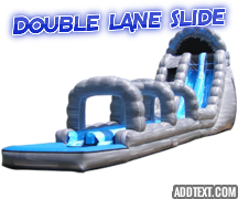 22 Ft. Double Lane Roaring river Slide with Slip and Slide
