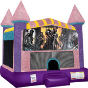 Call of Duty Inflatable bounce house with Basketball Goal Pink