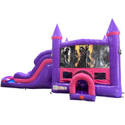Call of Duty Dream Double Lane Wet/Dry Slide with Bounce House
