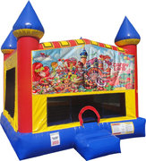 Candyland Bounce house with Basketball Goal