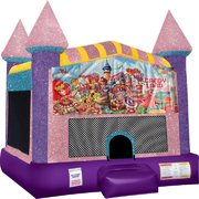 Candyland Bounce house with Basketball Goal (pink)