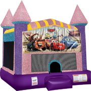 Cars Inflatable bounce house with Basketball Goal Pink