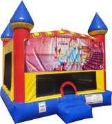 Cinderella Inflatable bounce house with Basketball Goal