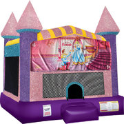 Cinderella Inflatable bounce house with Basketball Goal Pink