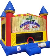 Crawfish Boil Inflatable bounce house with Basketball Goal