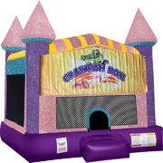 Crawfish Boil Inflatable bounce house with Basketball Goal Pink