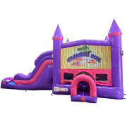 Crawfish Boil Dream Double Lane Wet/Dry Slide with Bounce House