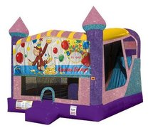 Curious George 4in1 Combo Bouncer Pink