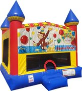 Curious George Inflatable bounce house with Basketball Goal