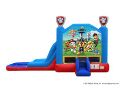 2 in 1 Paw Patrol Inflatable water slide combo Bounce House rental