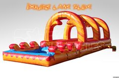 36 Ft Double Lane Slip and Slide Water Slide with pool 2 Day rental