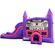 Dallas Cowboys Dream Double Lane Wet/Dry Slide with Bounce House