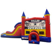 Dallas Cowboys Double Lane Water Slide with Bounce House