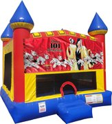Dalmations 101 Inflatable bounce house with Basketball Goal