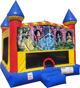 Disney Princess Inflatable bounce house with Basketball Goal