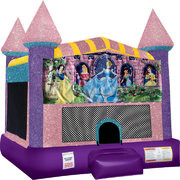 Disney Princess Inflatable  bounce house with Basketball Goal Pink