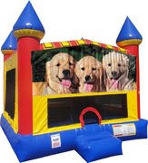 Dogs Inflatable Bounce house with Basketball Goal