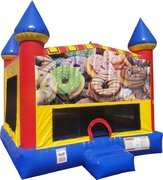 Donuts Inflatable Bounce house with Basketball Goal