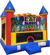 Play Games Bounce House with Basketball Goal