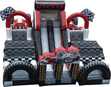 Extreme Racing inflatable obstacle course