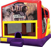 Fast and Furious 4in1 Bounce House Combo