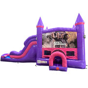 Fast and Furious Dream Double Lane Wet/Dry Slide with Bounce House