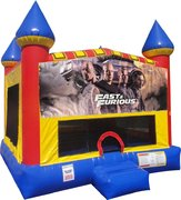 Fast and Furious Inflatable bounce house with Basketball Goal