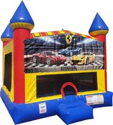Ferrari Inflatable bounce house with Basketball Goal