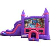 Finding Nemo Dream Double Lane Wet/Dry Slide with Bounce House