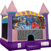 Finding Nemo Inflatable bounce house with Basketball Goal Pink