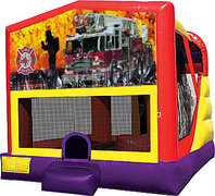 Firemen Fire Truck 4in1 Bounce House Combo