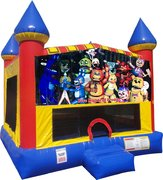 Five Nights of Freddy Inflatable bounce house with Basketball Goal