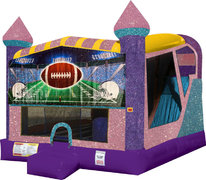 Football 4in1 Combo Bouncer Pink