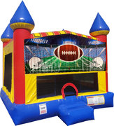 Football Inflatable bounce house with Basketball Goal
