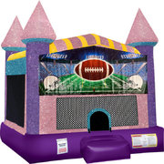 Football Inflatable bounce house with Basketball Goal Pink