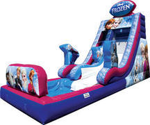 1-Disney Frozen Water Slide with Pool (full)