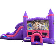 Golden State Warriors Dream Double Lane Wet/Dry Slide with Bounce House