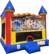 Golden State Warriors Inflatable bounce house with Basketball Goal
