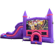 Goosebumps Dream Double Lane Wet/Dry Slide with Bounce House