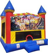 Goosebumps Inflatable Bounce house with Basketball Goal