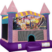 Goosebumps Inflatable Bounce house with Basketball Goal Pink