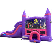 Halloween 2 Dream Double Lane Wet/Dry Slide with Bounce House