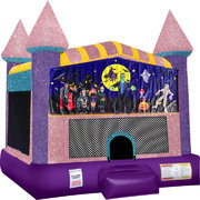 Halloween 2 Inflatable bounce house with Basketball Goal Pink