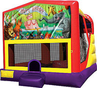 Happy Birthday Animals 4in1 Bounce House Combo