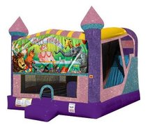 Happy Birthday Animals 4in1 Combo Bouncer Pink