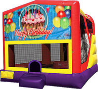Happy Birthday Cake 4in1 Bounce House Combo