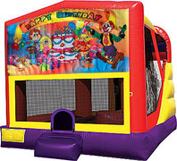 Happy Birthday Kids 4in1 Bounce House Combo