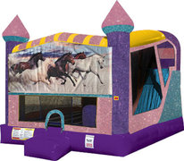 Horses 4in1 Combo Bouncer Pink