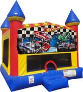 Hot Wheels Inflatable Bounce house with Basketball Goal